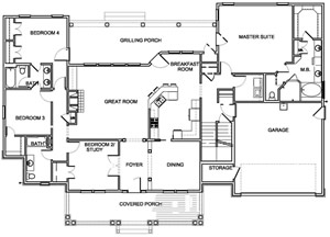 View sample home plans from AF Ross Builders